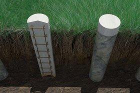 Этапы возведения столбчатых фундаментов
