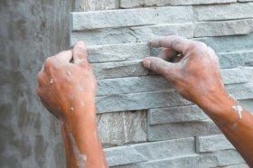 Монтаж фасадной плитки на металлических креплениях
