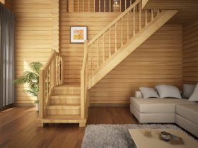 Преимущества деревянных лестниц в доме