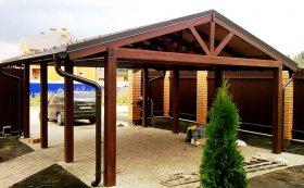 Нюансы строительства деревянного навеса для авто